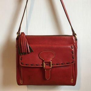 Dooney & Bourke Florentine Leather Tassel Bag, Red